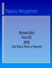 Cash flow  Terms of payment-2.ppt