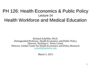 14. Health Workforce and Medical Education 03.05.15