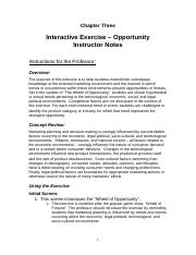 Notes on Interactive Exercise
