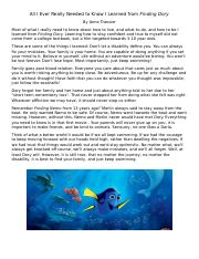 All I Ever Really Needed to Know I Learned from Finding Dory