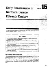 Chapter 15 Early Renaissance in Northern Europe 15th Century AP Study Guide