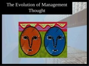 Management Thought Sept 27