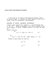 Lecture 1 Notes Vector Mechanic Formulation