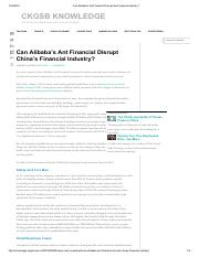 Can Alibaba's Ant Financial Disrupt the Financial Industry_