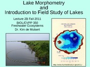 Lake Morphometry and Field Techniques