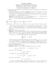 MATH 401 Winter 2015 Assignment 3 Solutions