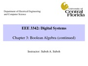 EEE 3342C_0001-Chapter3-BooleanAlgebraContinued