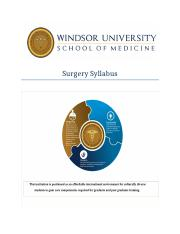 1 Surgery-Syllabus