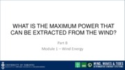 Module 1 Part B Lecture 1 _Max power from wind_slides