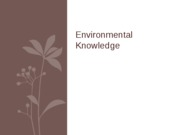 Environmental Knowledge