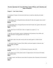 Fin3000_Practice_Questions_ExamIII_Fall_09
