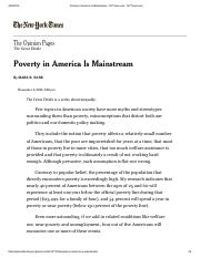 Poverty in America Is Mainstream - NYTimes.com - NYTimes, 4-20-14