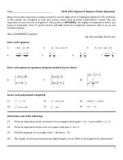 Algebra 2 final review from unit 1-5.doc