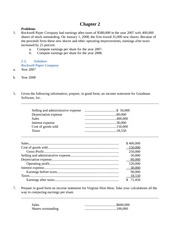 Chapter 2 Class Notes Finance