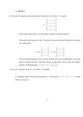Exam 2 Solution Fall 2010 on Linear Algebra