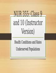 community health conditions and rates class 9 and 10