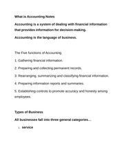 What is Accounting Notes