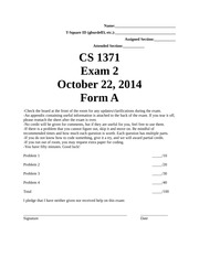 Fall Test 2 Form A