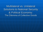 13 Multilateralism and Collective Action