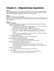 Study Guide - Chapter 4 - Diagramming Arguments