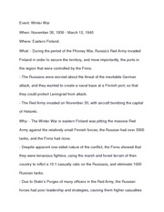 HIstory 12 Winter War notes