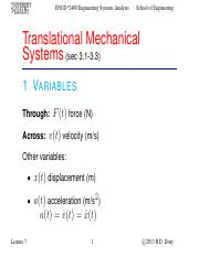Lecture 7 - Sep.26.2013 - Mechanical Systems