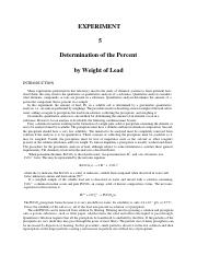 EXPERIMENT 5 Determination of the Percent by Weight of Lead Spring 2016.pdf