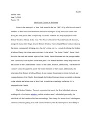 Broken windows theory essay