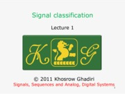 Signals, Sequences, and Anlog, Digital Systems - Signal classification.pdf