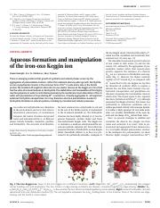 Aqueous formation and manipulation