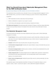 What You Should Know about Stakeholder Management Plans for the PMP Certification Exam.pdf
