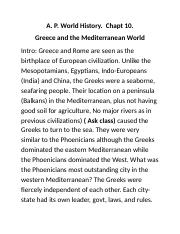 AP World Chapt. 10 Greece.docx