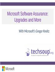 Presentation Software Assurance