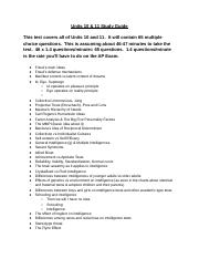 Copy of Units 10 & 11 Study Guide