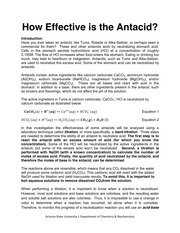 How Effective is the Antacid for Students