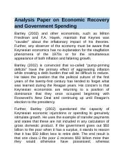 Analysis Paper on Economic Recovery and Government Spending.docx