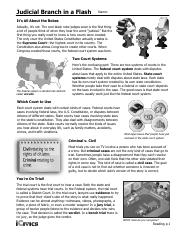 Judicial Branch In A Flash Worksheet Analysis Fill Completed Pdf