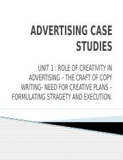 Advertising case studies Unit 1.pptx