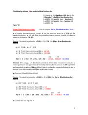 Additional problems_2 on statistical distributions