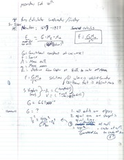 Newton Calculations Notes
