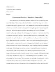 Anthropology 349 - Essay #2