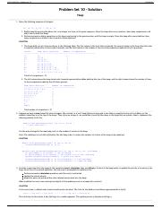 CS 112 Fall 2014 - Problem Set 10 Solution