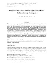 Extreme Value Theory with an Application to Bank Failures through Contagion.pdf