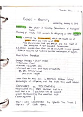 Notes on Genes & Heredity