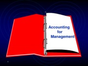 Accounting  for Management (presentation)