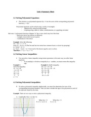 Unit 4 Summary Sheet.Oct.20.09.period 1