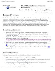 OLEAD100: Introduction to Leadership Lesson 6.pdf