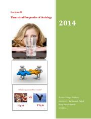 Lecture II Theoritcal Perspective of Sociology.pdf
