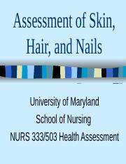 Skin, hair, nails assessment.ppt students 2011(2).ppt