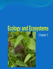 Ecology and Ecosystems Second lecture Animal Biology.pptx